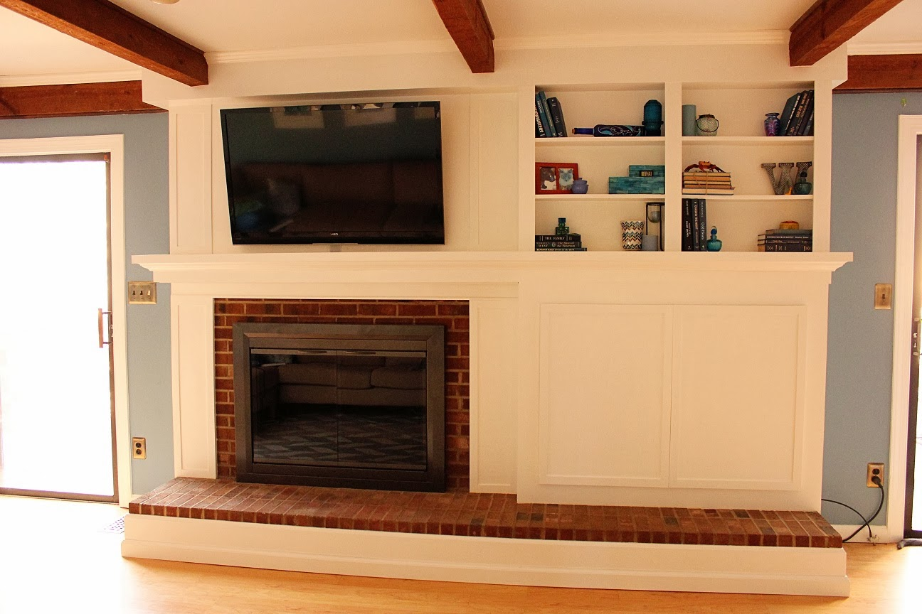 Update Old Brick Fireplace Do It Yourself Fireplace Remodels