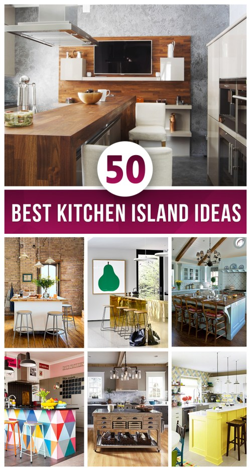 Medium Of Island For Kitchens