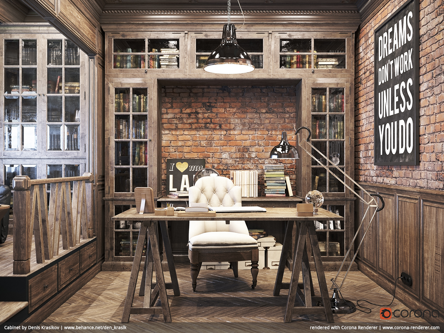 Fullsize Of Rustic Home Office