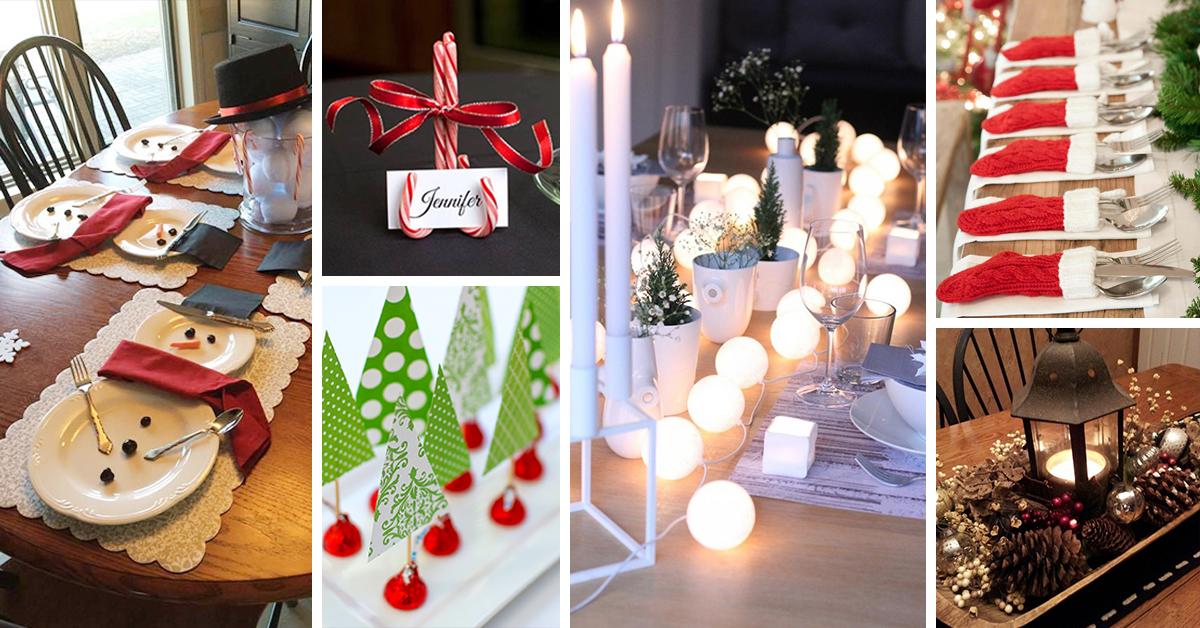 50 Best DIY Christmas Table Decoration Ideas for 2018