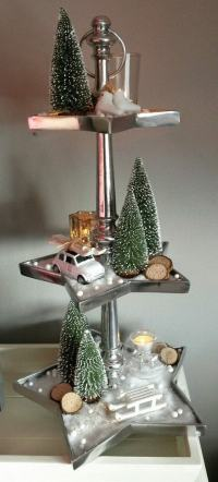 How To Decorate A Cake Stand For Christmas | www ...