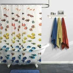 Swish Fish Shower Curtain Curtains Forkids S Shower Curtains Kids Large Size Shower Curtains Kids Kids Shower Curtains At Target Kids Shower Curtains Walmart