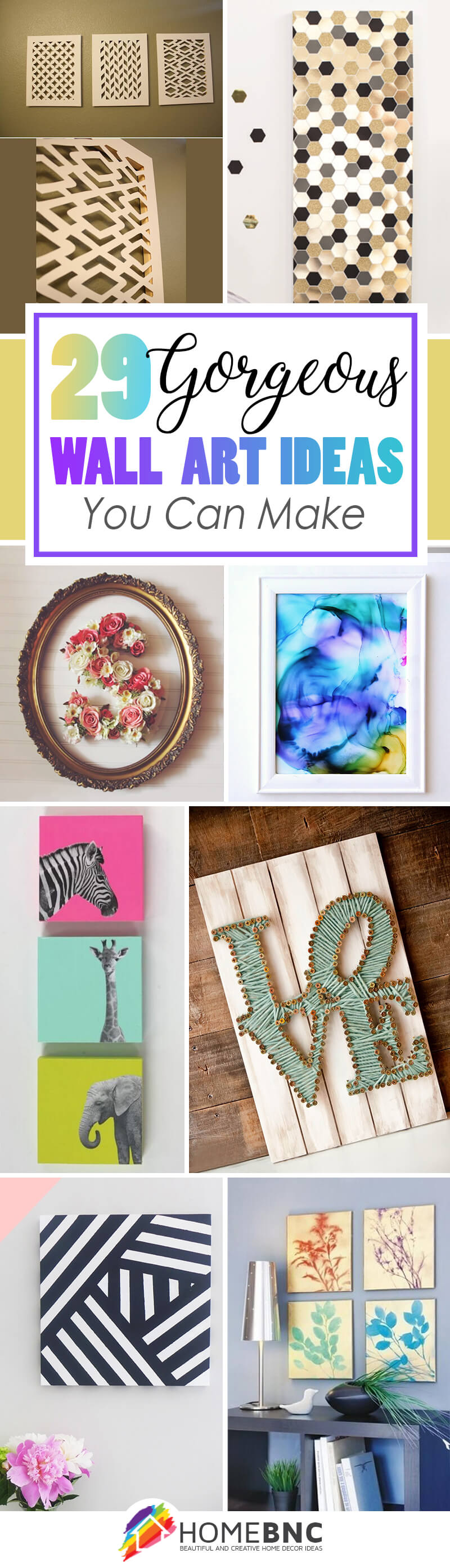 36 Best Diy Wall Art Ideas Designs And Decorations For 2021