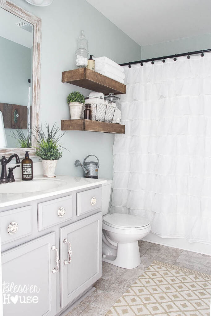 28 Best Shabby Chic Bathroom Ideas and Designs for 2017 - shabby chic bathroom ideas
