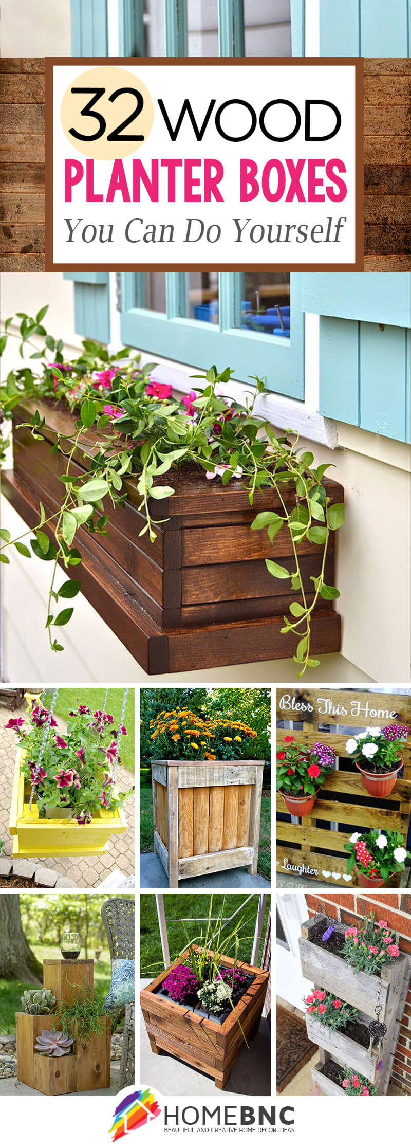 Wooden Windowsill Planter 32 Best Diy Pallet And Wood Planter Box Ideas And Designs For 2019