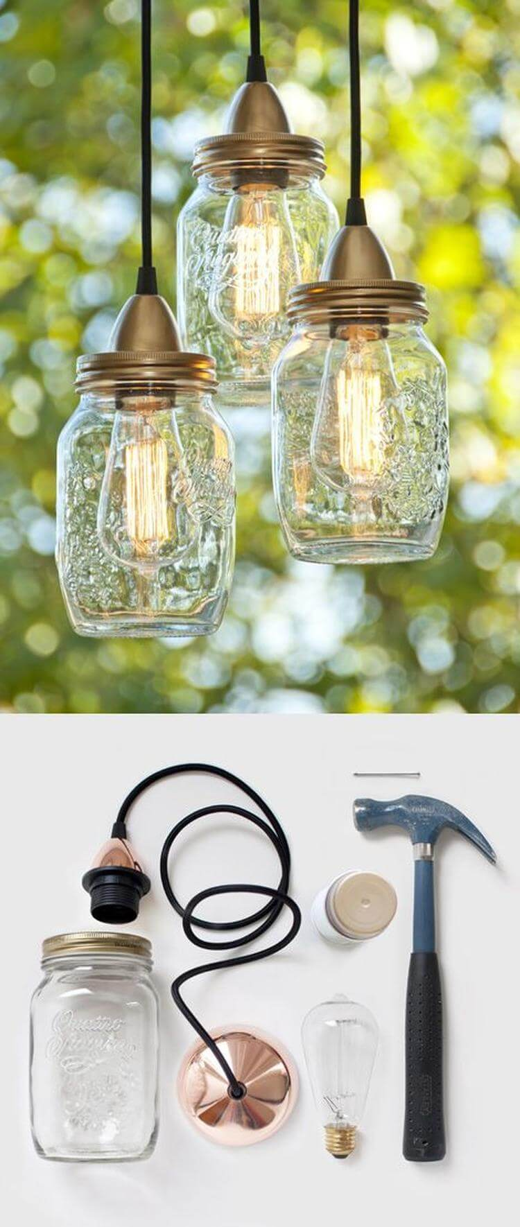 Glass Jar Lamp Shade 34 Best Diy Lamp And Lamp Shade Ideas And Designs For 2019
