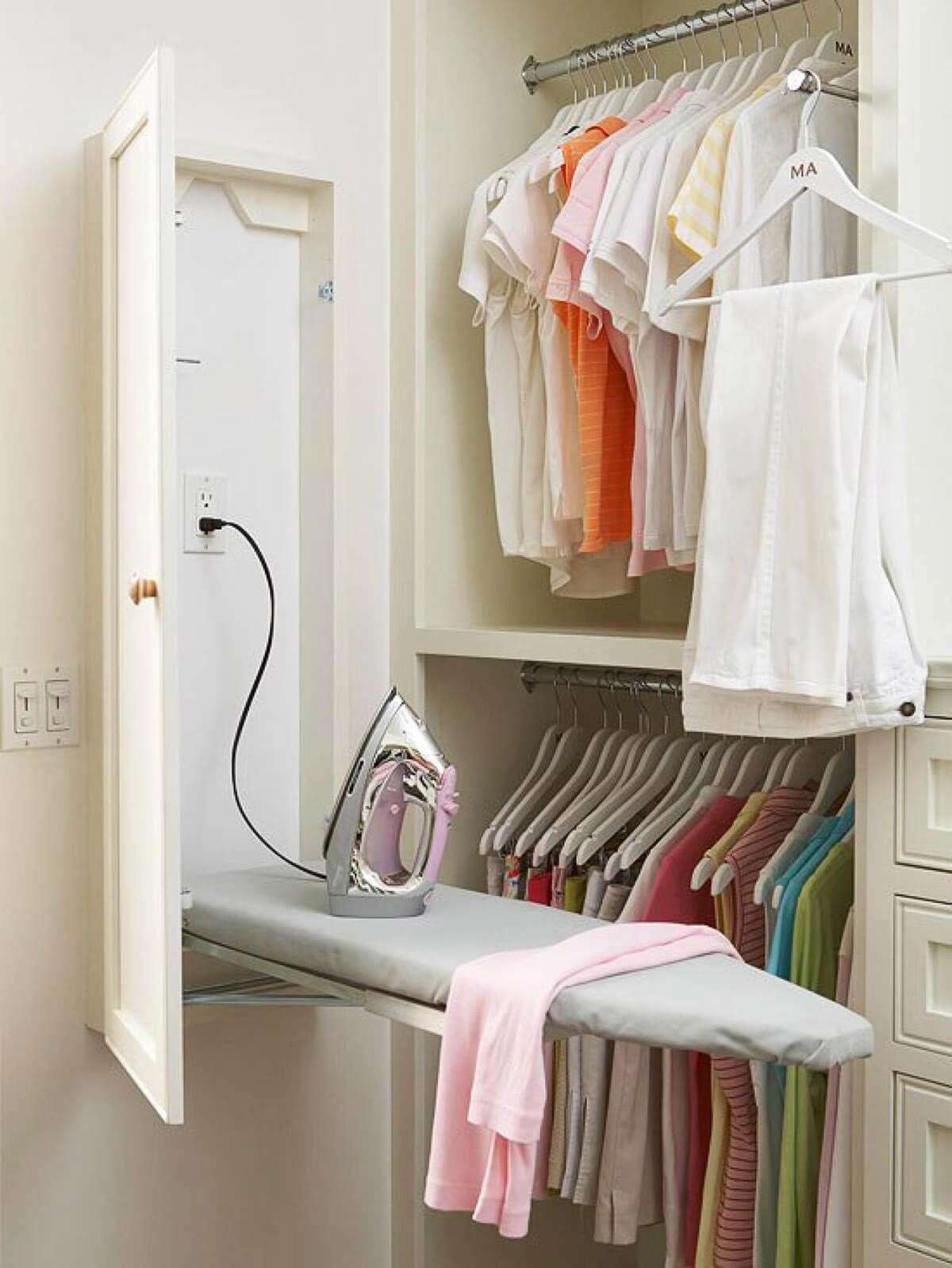 Space Saving Wardrobe Ideas This Fold Up Ironing Board Is A Closet Space Saving Essential