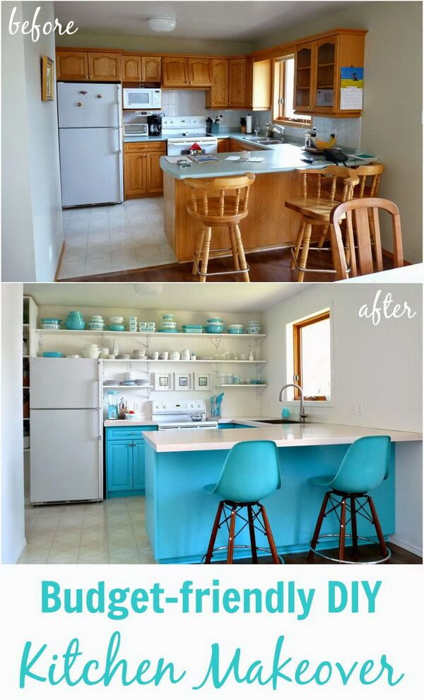 25+ Before and After Budget Friendly Kitchen Makeover Ideas and - kitchen makeover ideas
