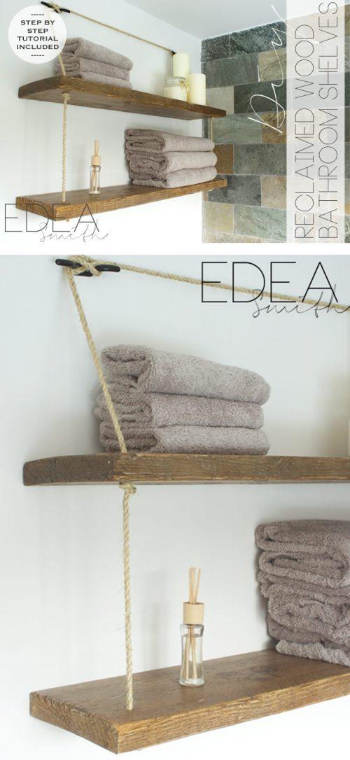 Medium Of Bathroom Wall Shelf Ideas