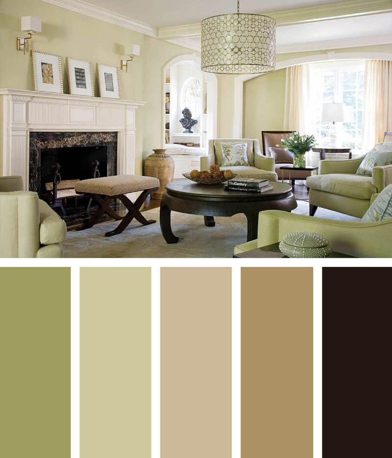 11 Best Living Room Color Scheme Ideas and Designs for 2017 - cozy living room colors
