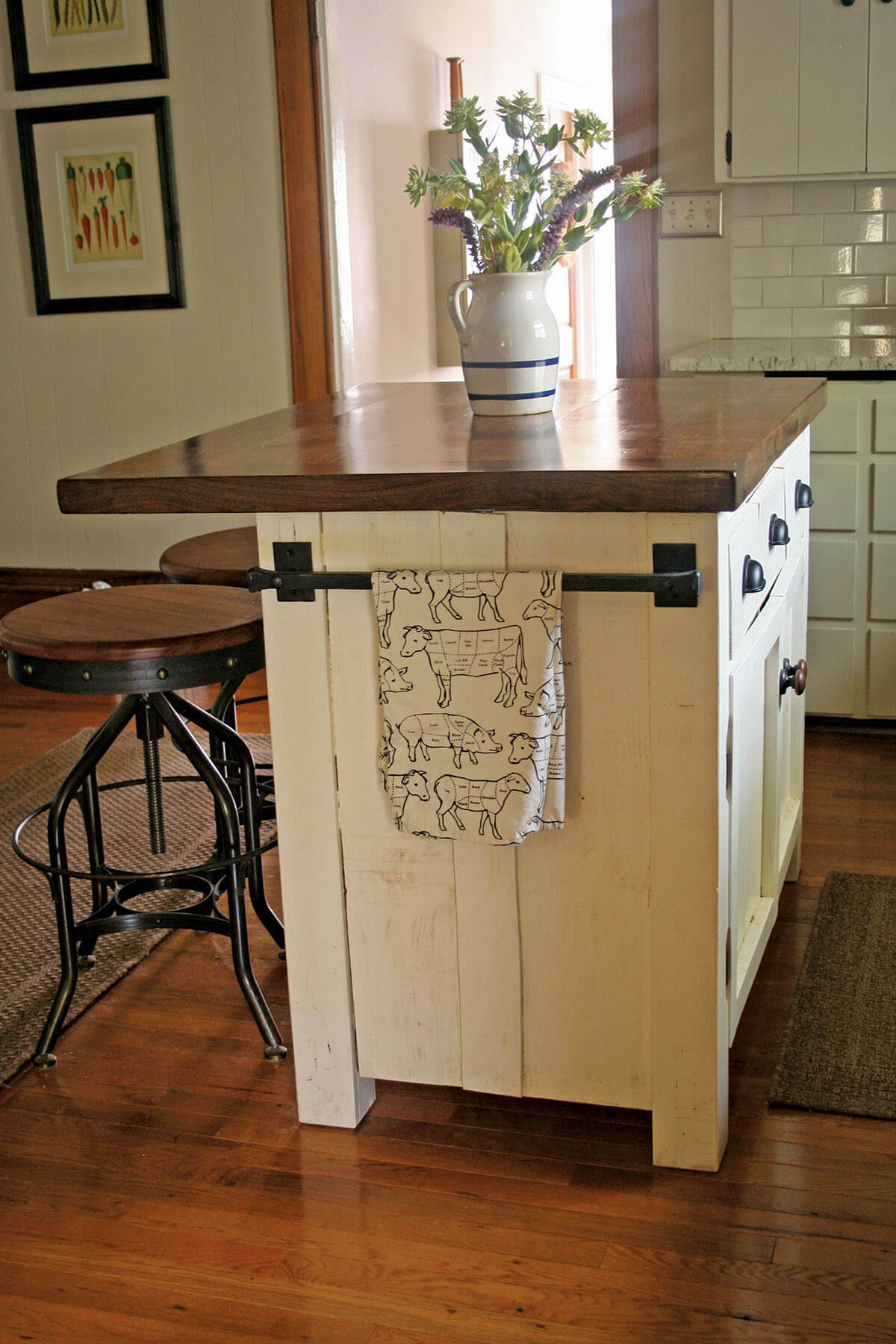 Diy Farmhouse Style Desk 23 Best Diy Kitchen Island Ideas And Designs For 2019