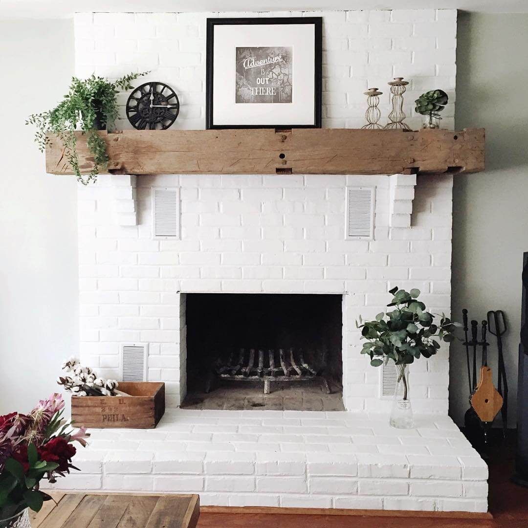 Brick Fireplace Wood Mantel 32 Best Fireplace Design Ideas For 2019