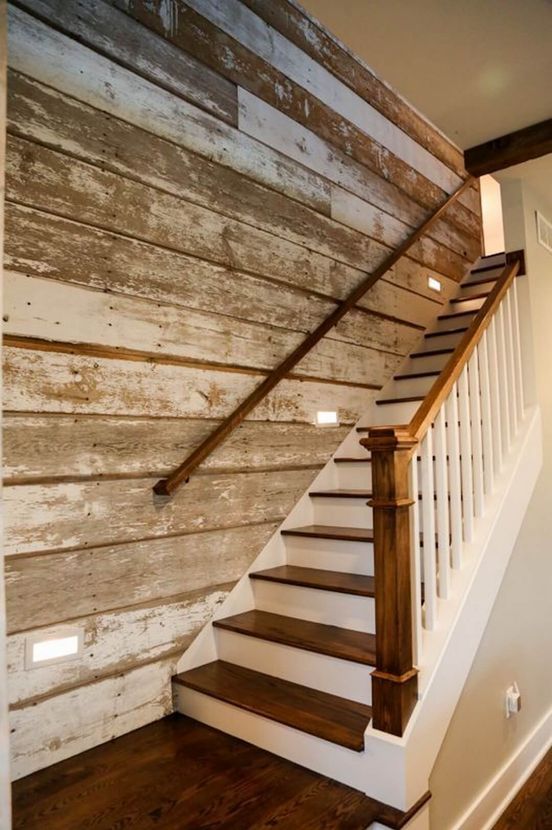 Paneled Staircase 27 Best Rustic Shiplap Decor Ideas And Designs For 2019
