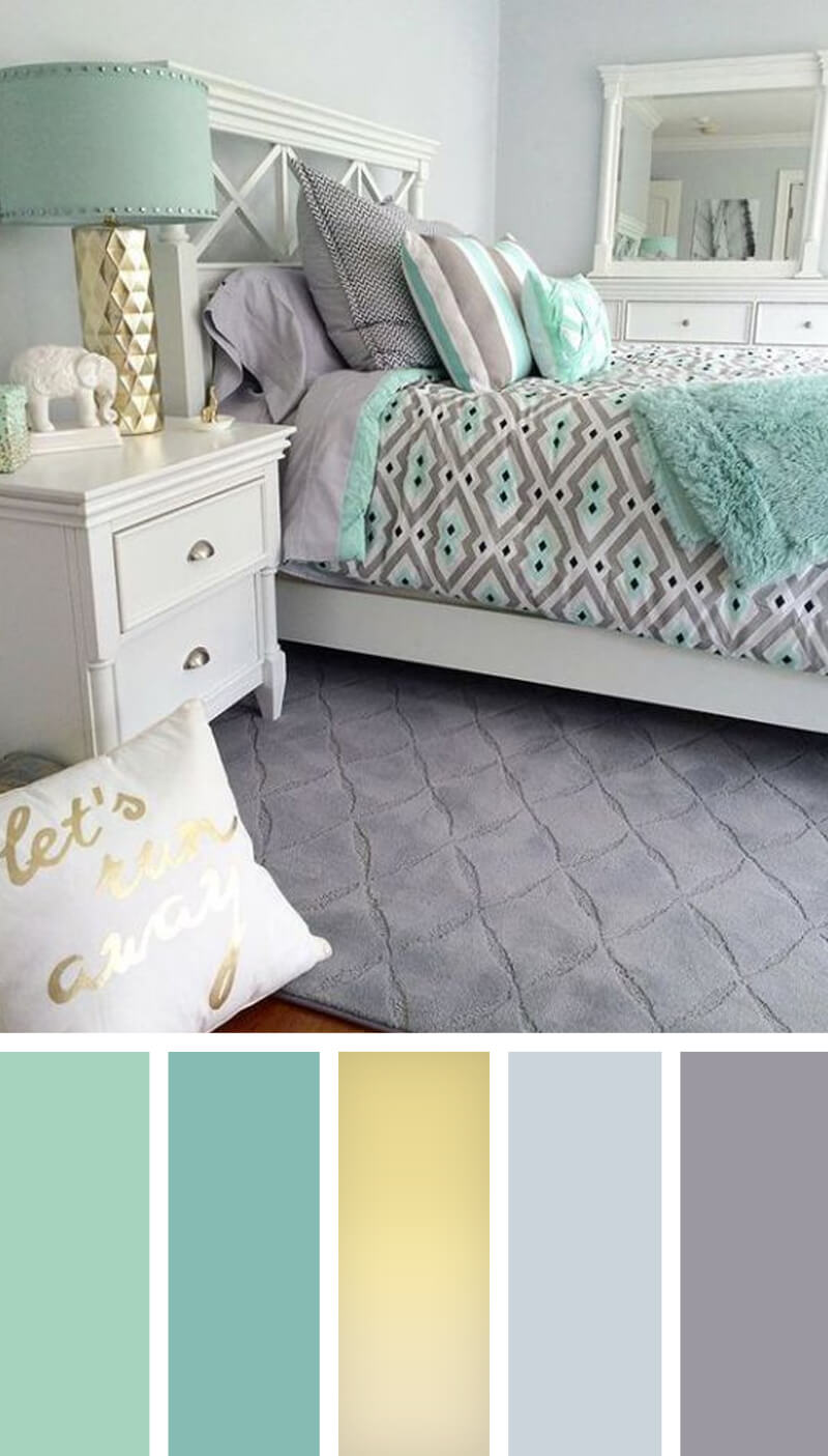 Teal Pictures Bedroom 12 Best Bedroom Color Scheme Ideas And Designs For 2019