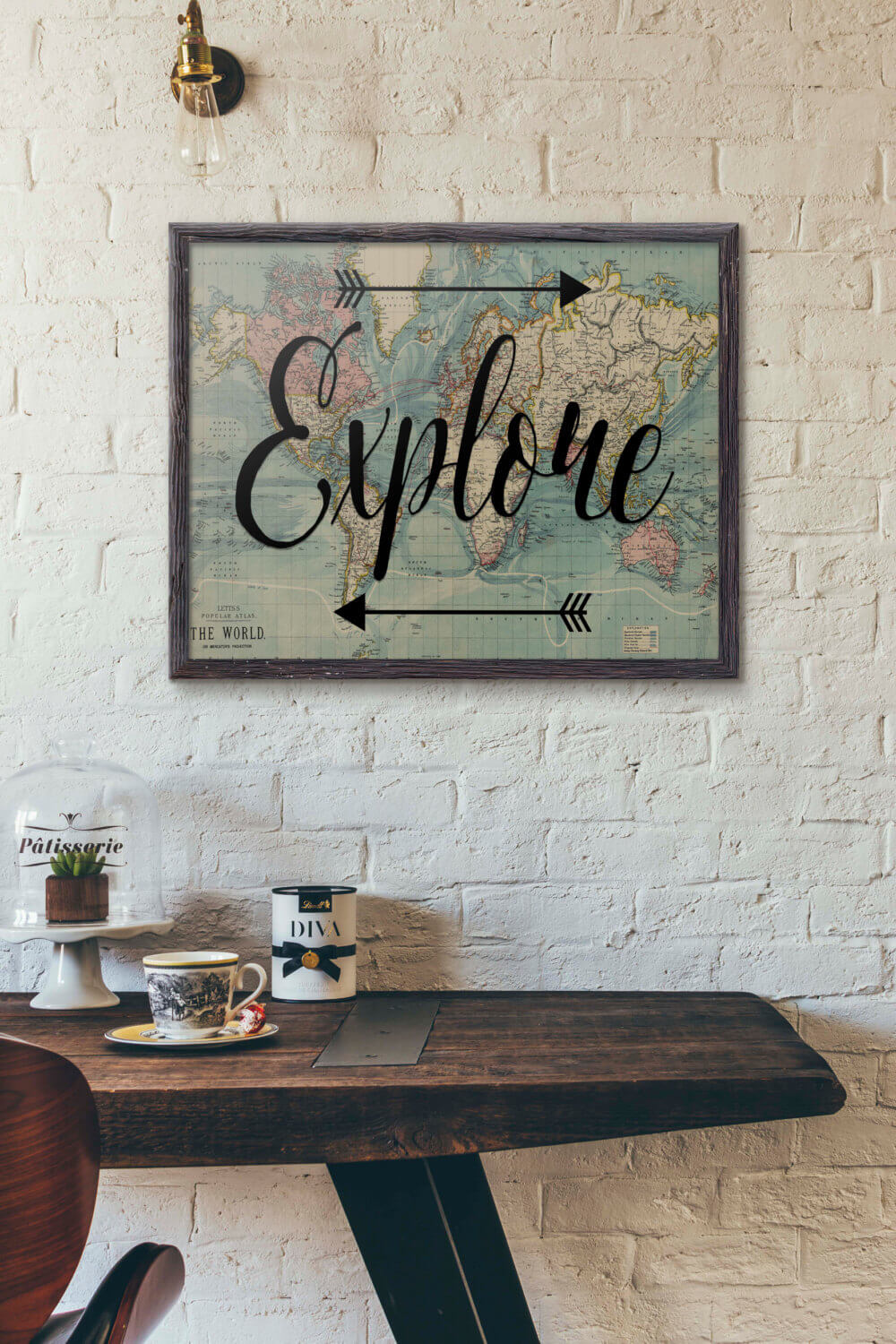 World Map Decorations 29 Best Travel Inspired Home Decor Ideas And Designs For 2019