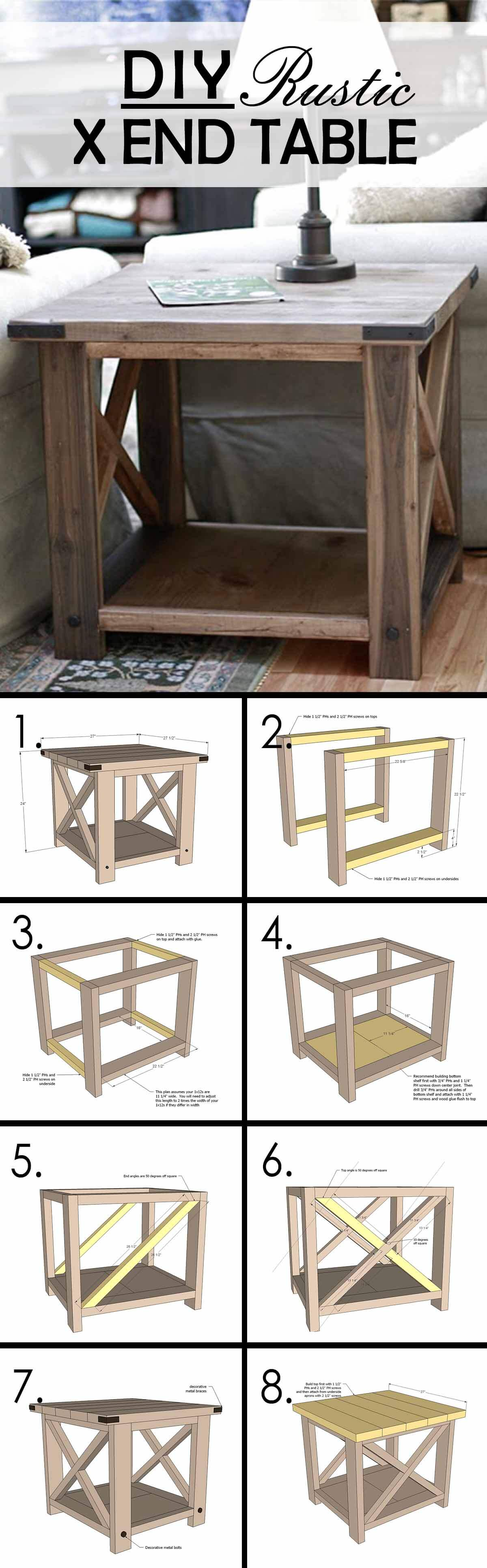 Build Your Own End Table 25 Best Diy Farmhouse Coffee Table Ideas And Designs For 2019