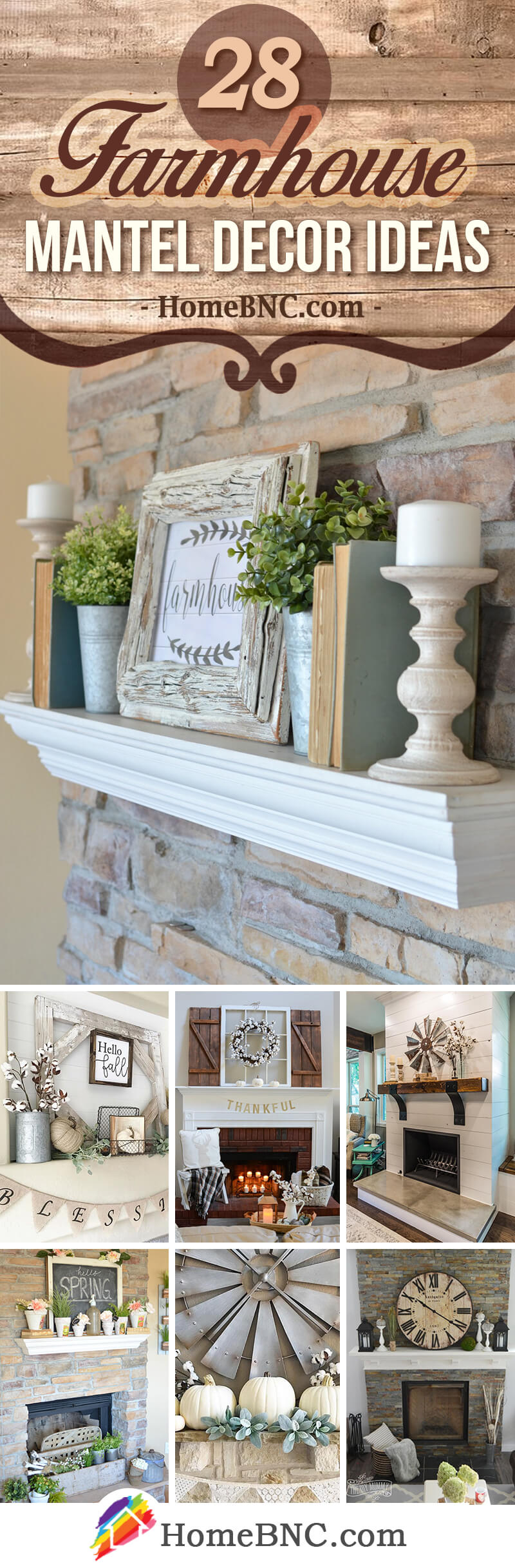 Clock Over Fireplace 28 Best Farmhouse Mantel Decor Ideas And Designs For 2019