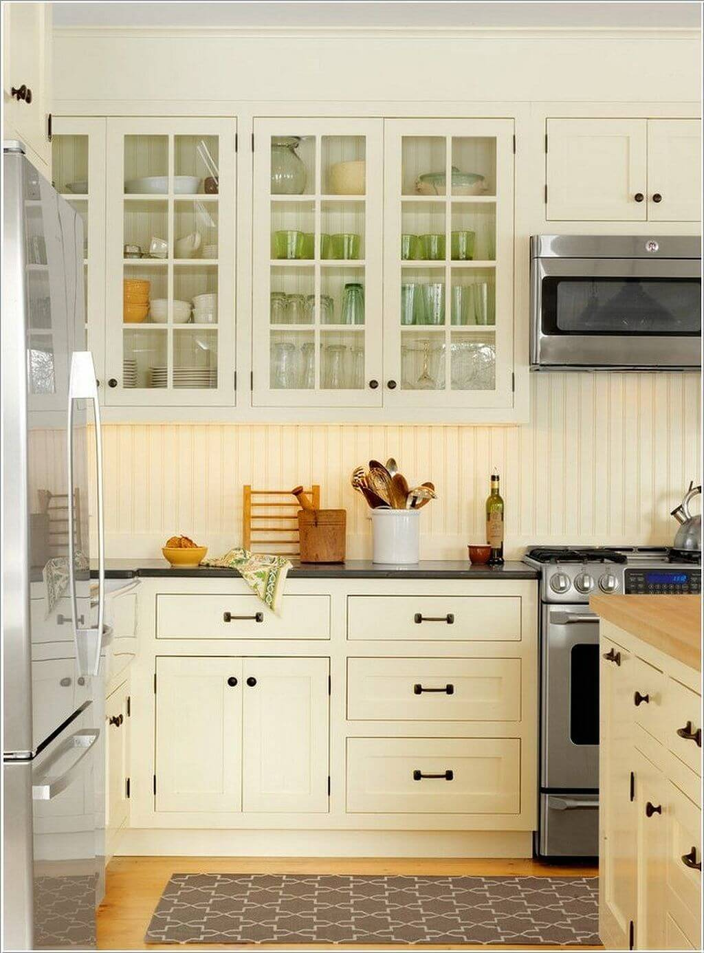 Open Kitchen Lower Cabinets 35 Best Farmhouse Kitchen Cabinet Ideas And Designs For 2019
