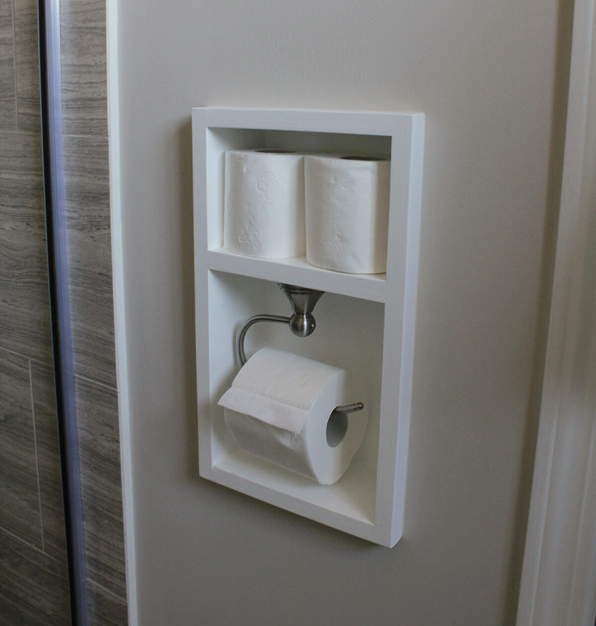 Space Saving Toilet Paper Holder 25 Best Built In Bathroom Shelf And Storage Ideas For 2019