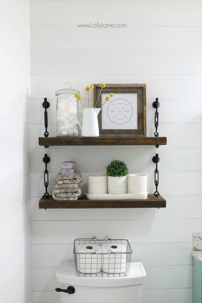 Wall Shelf Design 26 Best Farmhouse Shelf Decor Ideas And Designs For 2019