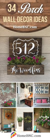 34 Best Porch Wall Decor Ideas and Designs for 2018