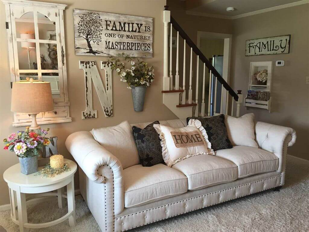 33 Best Rustic Living Room Wall Decor Ideas and Designs