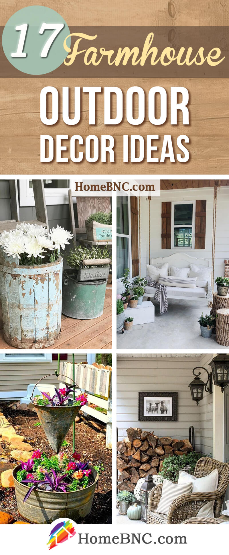 Exterior Home Decor 17 Best Farmhouse Outdoor Decor Ideas And Designs For 2019