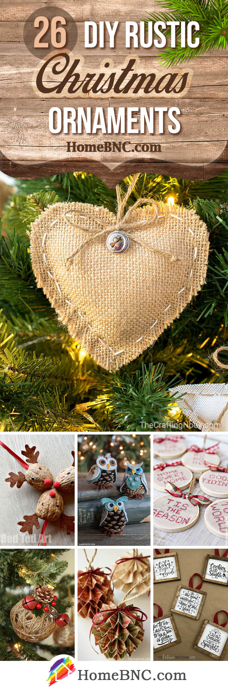 Diy Christmas Ornaments 26 Best Rustic Diy Christmas Ornament Ideas And Designs For 2019