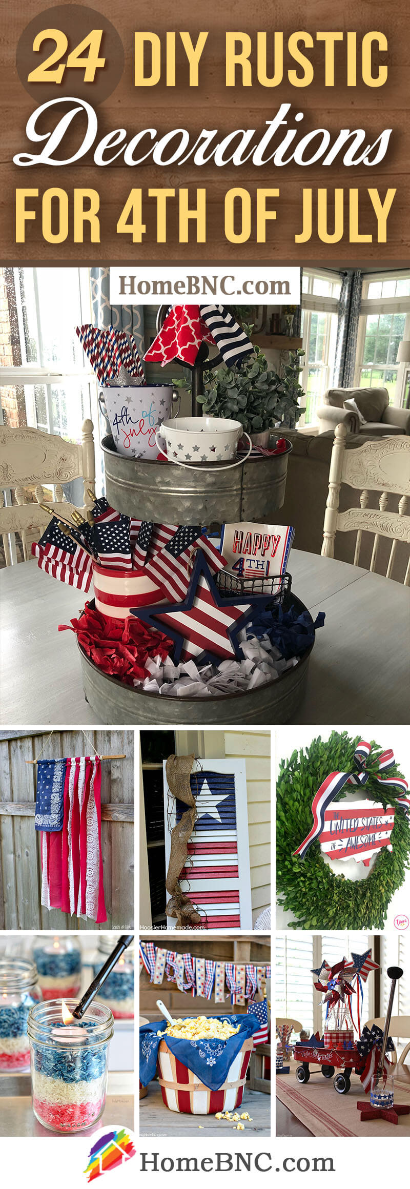 24 Best Diy Rustic 4th Of July Decorations For 2021