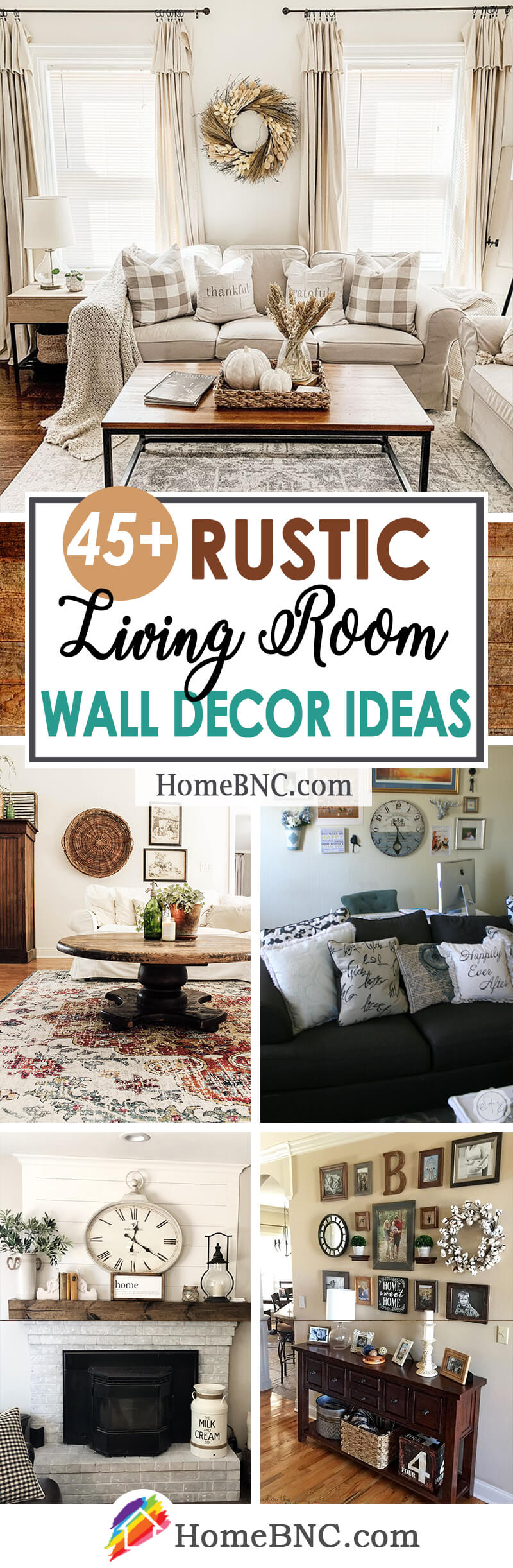 45 Best Rustic Living Room Wall Decor Ideas And Designs For 2021
