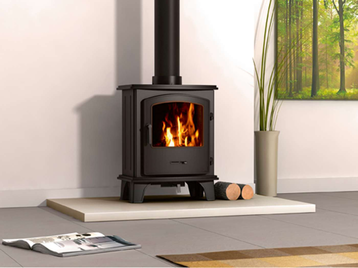 Convert Fireplace To Gas Burning How To Replace A Gas Fire With A Woodburner Homebuilding