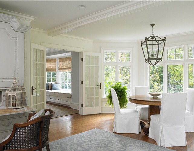 Custom Antique White Kitchen Cabinets Traditional Colonial Home - Home Bunch Interior Design Ideas