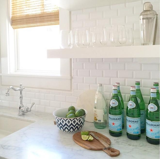 kitchen prep sink floating shelves white tile backsplash kitchen sink backsplash ideas ehow