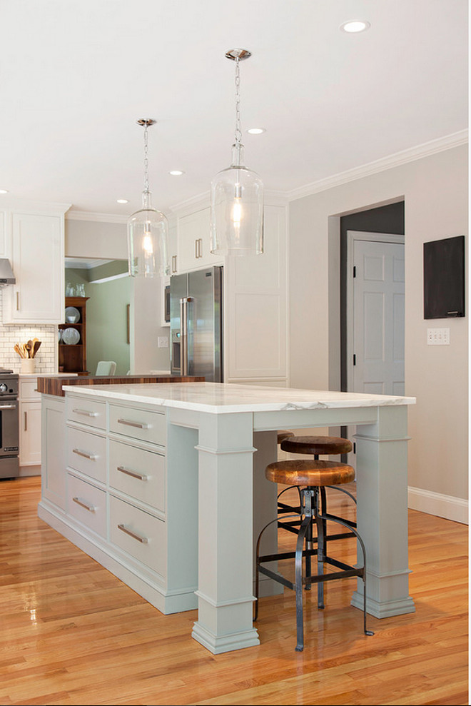Cabinet Color For Low Light Kitchen Modern Farmhouse Kitchen Design - Home Bunch Interior