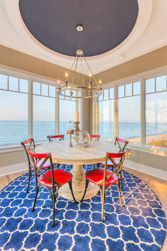 Light Wood Dining Table Shingle Beachfront Home With Casual Coastal Interiors