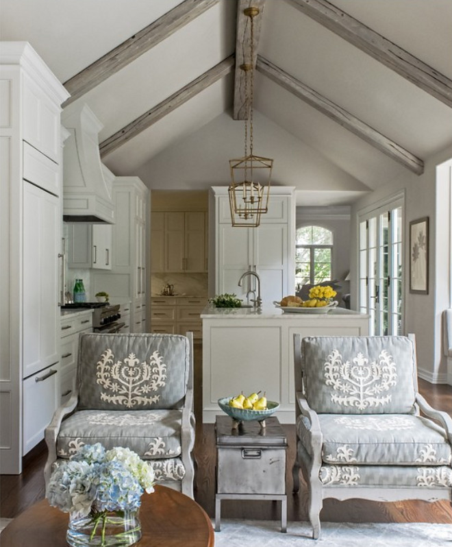 ceiling beams cerise wood gray wash finish aren arrange open floor plan furniture layout ideas furniture