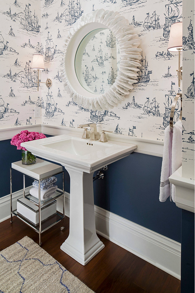 Navy Blue Bathroom Ideas Traditional Coastal Home With Classic White Kitchen - Home