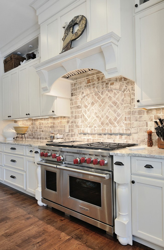 kitchen brick backsplash kitchen granite countertop brick elegant brick backsplash kitchen presented soft colors