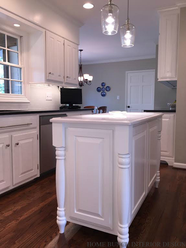Benjamin Moore Home Depot Before & After Kitchen Reno With Painted Cabinets - Home