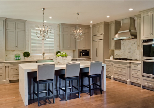 kitchen kitchen gray cabinets white marble marble countertop dark gray kitchen designed talented atlanta based kitchen