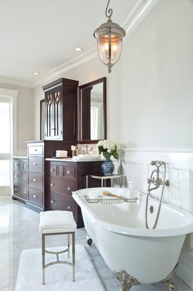 Bathroom Marble Tile Beach House With Classic Coastal Interiors - Home Bunch