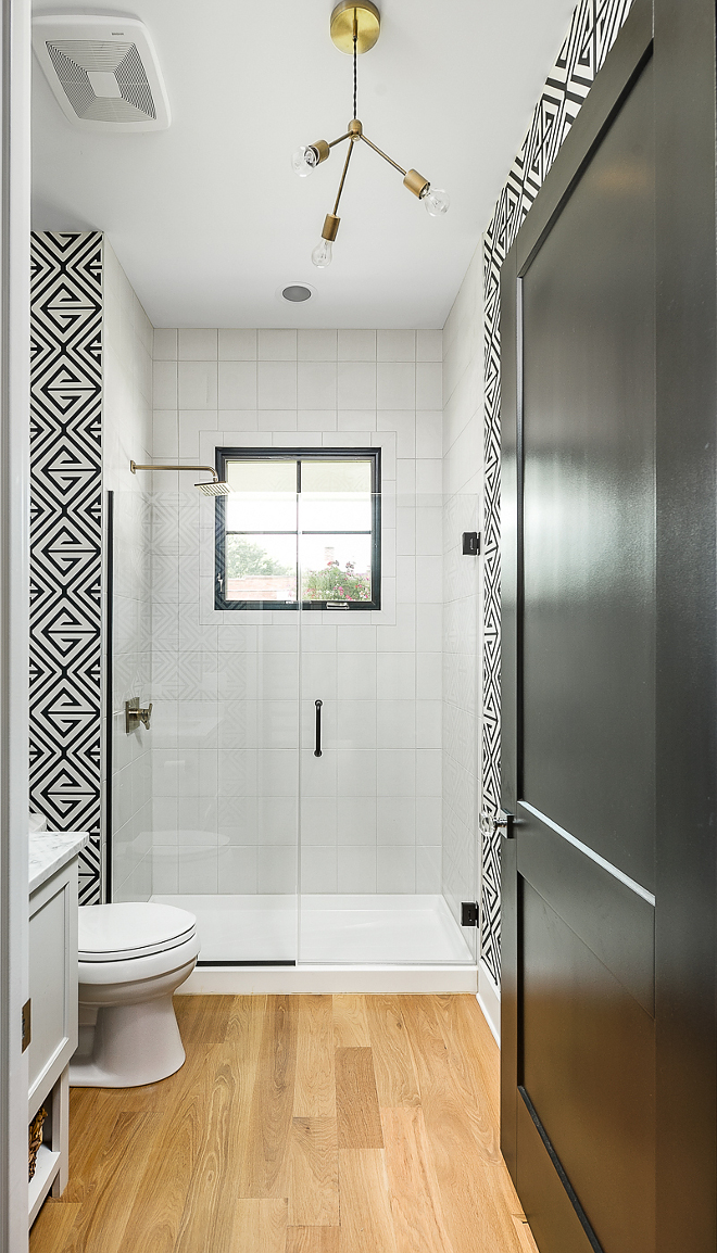 Kohler Shower Lighting White Farmhouse With Wrap-around Porch - Home Bunch