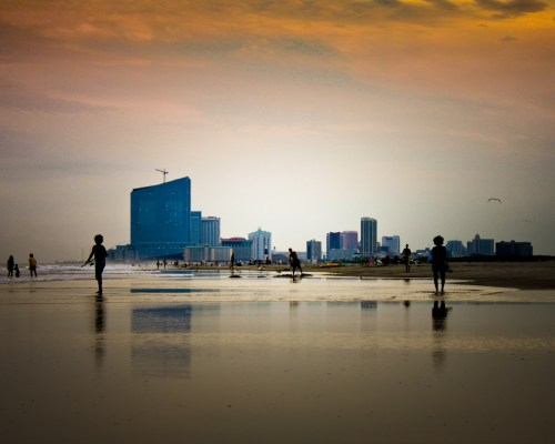 View of Atlantic City from Brigantine beach