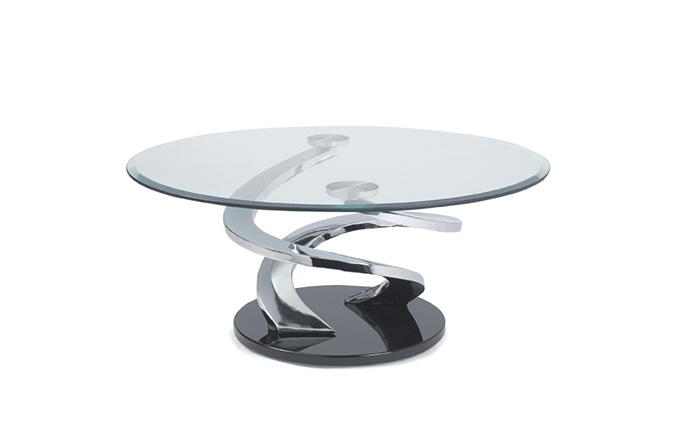 Chaises Privees Table Basse Ronde En Verre - Tornade De Eda Concept | Home