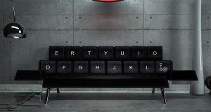 Keyboard sofa bed