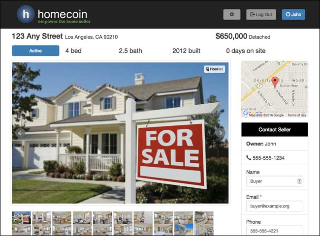 Free FSBO Listing Website Create A homecoin Listing homecoin