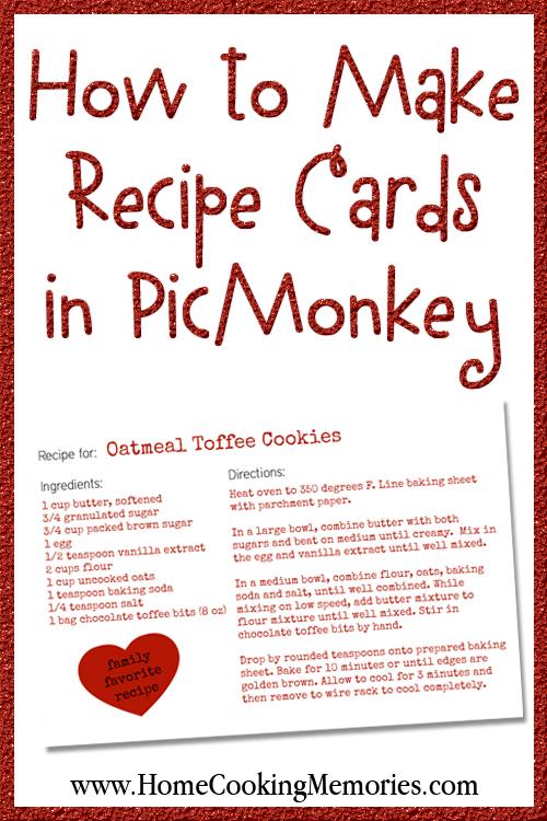 create a recipe card - Josemulinohouse
