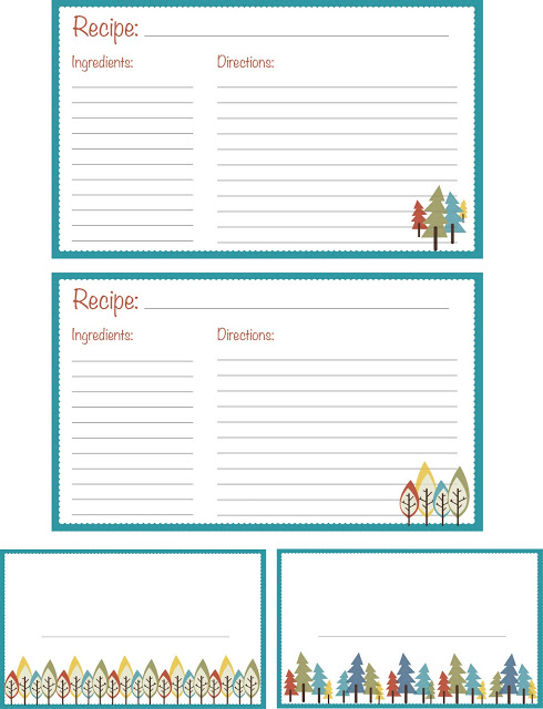 Cute recipe card template word - visualbrainsinfo - free recipe card template for word