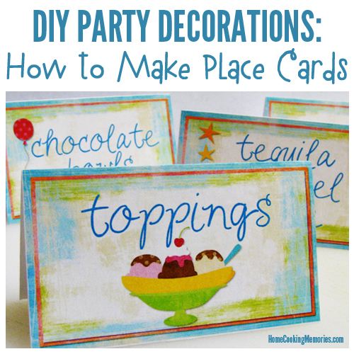 DIY Party Decorations Place Cards (Table Cards) - Home Cooking Memories