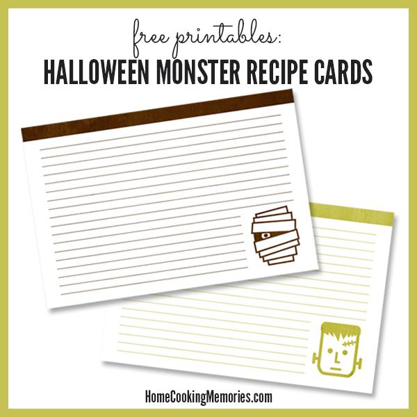 25 Free Printable Recipe Cards - Home Cooking Memories